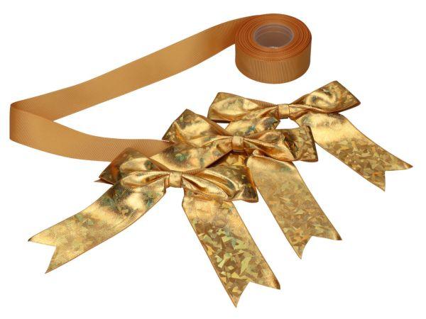 Schleifenset gold für Tortenkartons