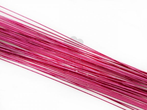 Blumendraht metallic pink 20G 50 Stück
