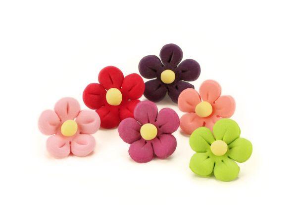 Blumen 21mm bunt Zucker 10 Stück