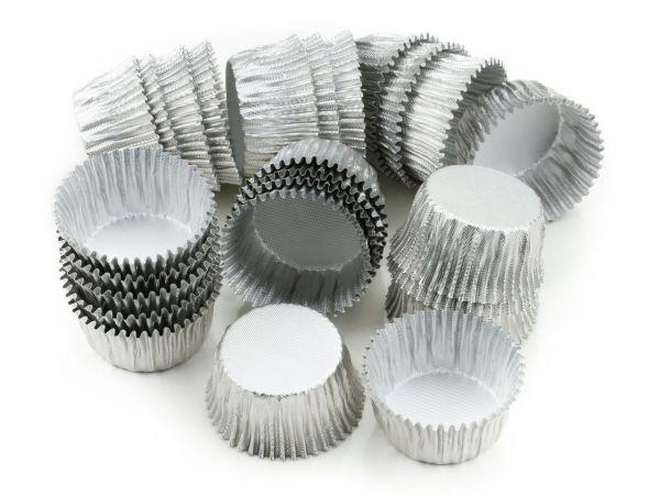 Alu-Kapseln 24mm silber 25 Stück