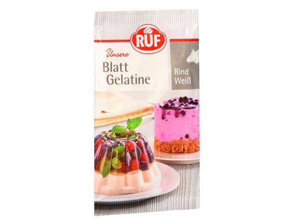 RUF Blatt Gelatine Rind Weiß 20g