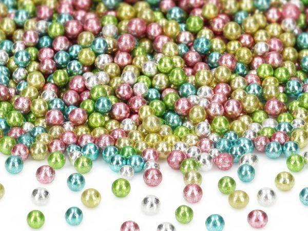Metallic-Perlen bunt Harlekin 50g