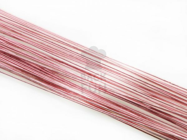 Blumendraht metallic rosa 20G 50 Stück