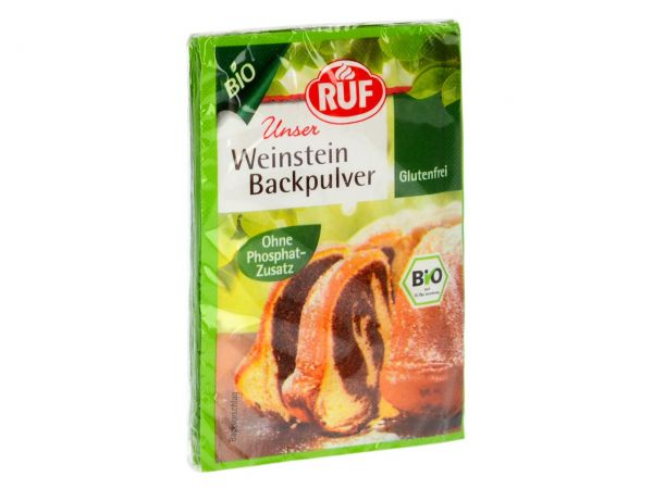 RUF Bio Weinstein Backpulver 3er Pack 3x20g