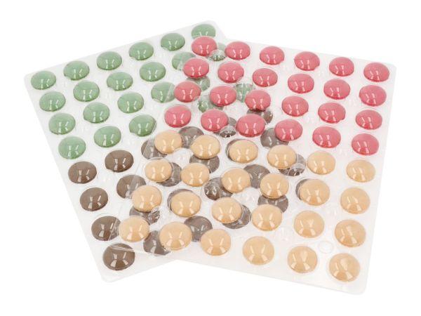 Macaron-Halbschalen 384 Stück bunt
