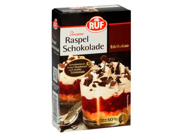 RUF Raspel Schokolade Edelkakao 100g