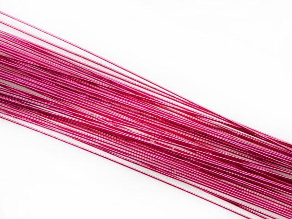 Blumendraht metallic pink 24G 50 Stück