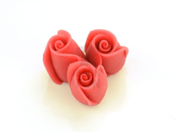 Marzipan-Rosen klein rot 36 Stück