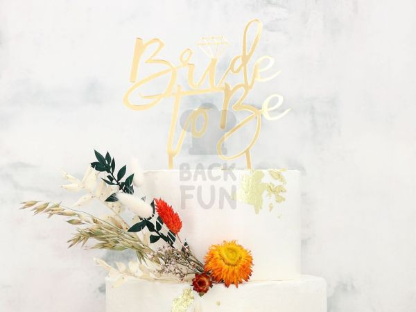 Cake Topper Bride to be gold