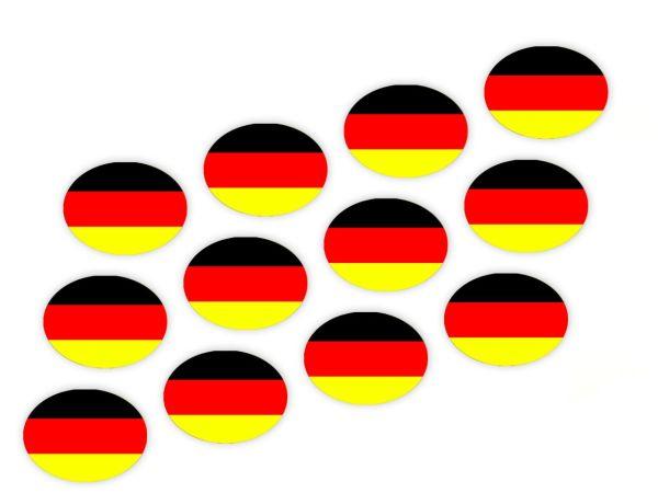 Cupcake Buttons Deutschland 12 Stück