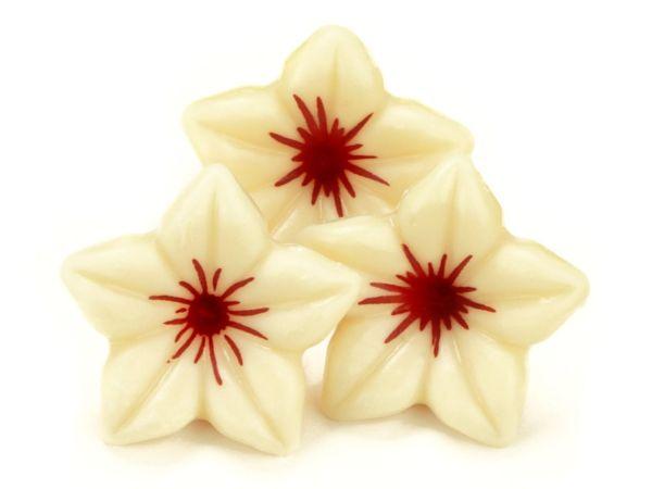 1 Folie Schokoladen-Blüten Weiß