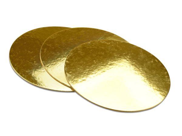 Golden Plate 30cm gold glänzend 3 Stück