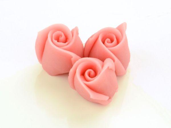 Marzipan-Rosen klein rosa 4 Stück
