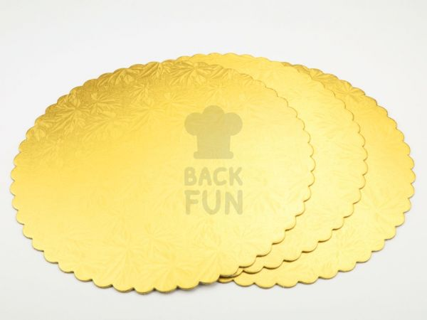 Cakeboard 28cm gold 3 Stück