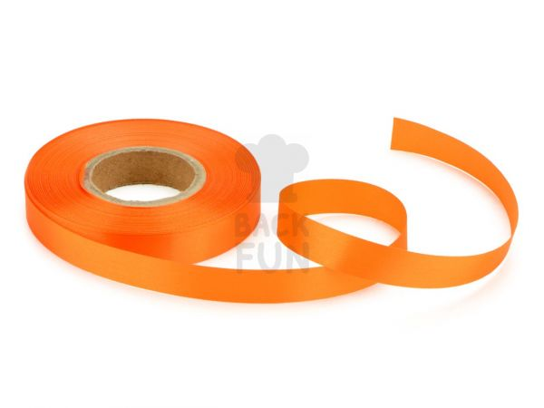 Satinband orange 14mm, 30 Meter