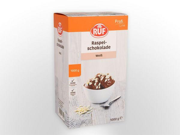 RUF Raspelschokolade weiß 1,0kg