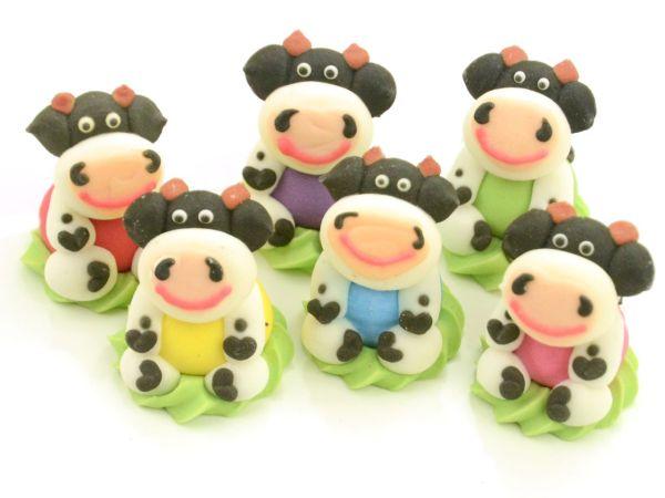 Kühe sitzend Zucker 6 Stück