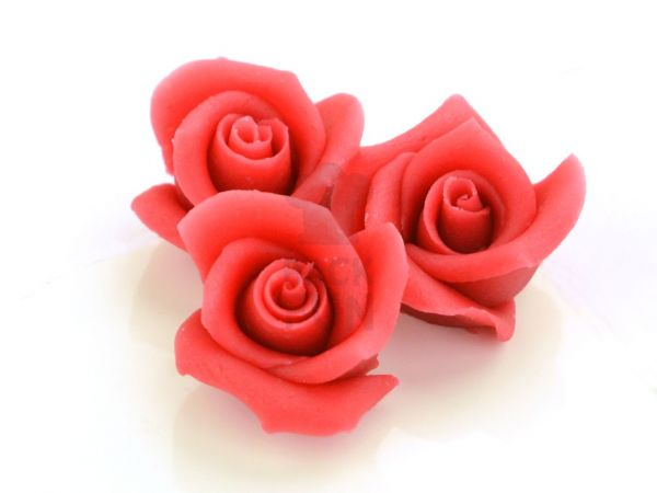 Marzipan-Rosen mittel rot 36 Stück