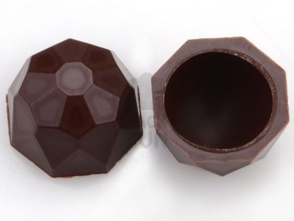 1 Folie Diamanten-Schalen Zartbitter