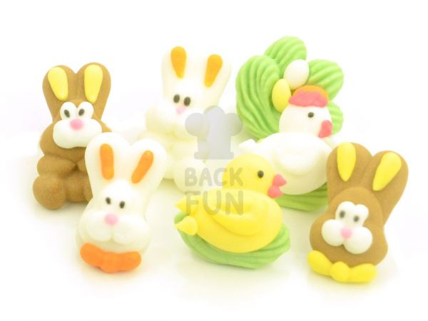 Figuren Ostern Zucker 7er Set