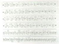 Buchstaben- und Zahlen Ausstecher Indie Flower