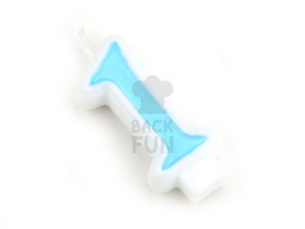 Zahlenkerze blau 1