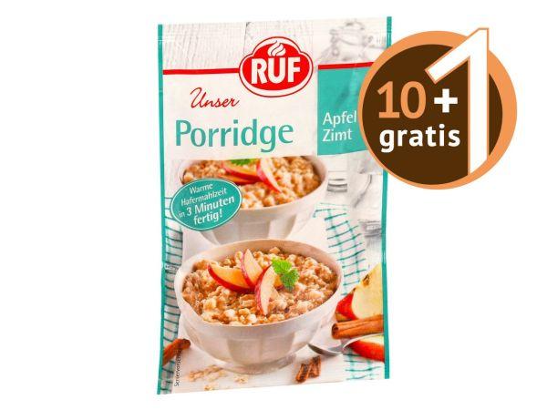 RUF Porridge Zimt Apfel 65g 10+1 gratis