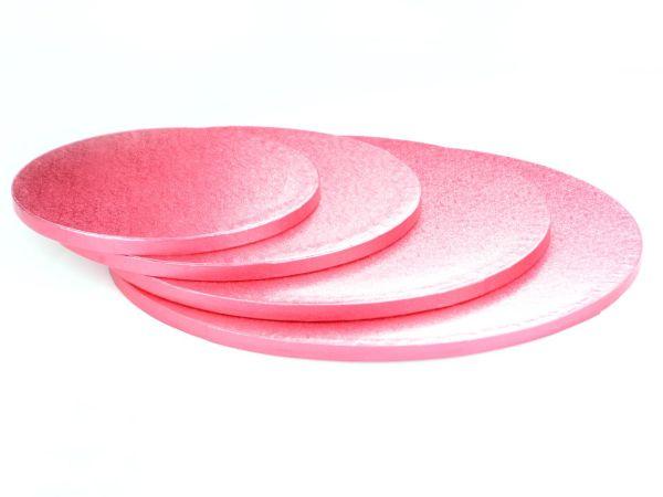 Cakeboard rund 25cm pink 5 Stück