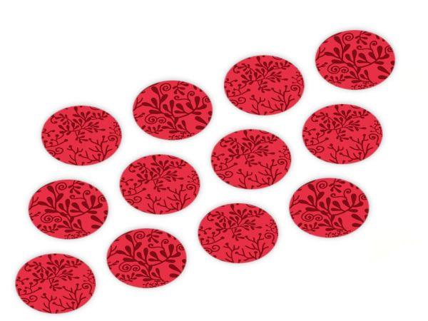Cupcake Buttons Pflanzen rot 12 Stück