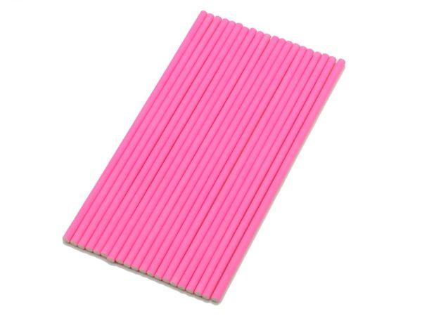 Stiele für Lollis 20 Stück 15cm pink