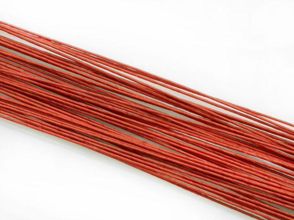 Blumendraht rot 24G 50 Stück