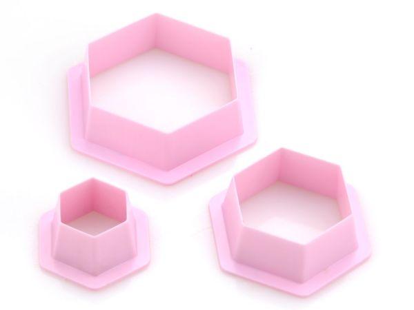 Ausstecherset Hexagon 3er