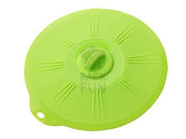 Universaldeckel aus Silikon 21cm grün transparent