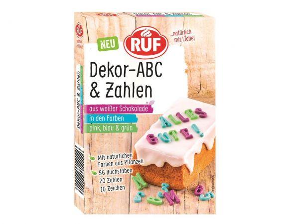 RUF Dekor ABC Zahlen Schokobunt 32g