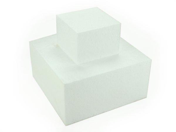 Torten-Dummy Quadrat 20cm, Höhe: 10cm