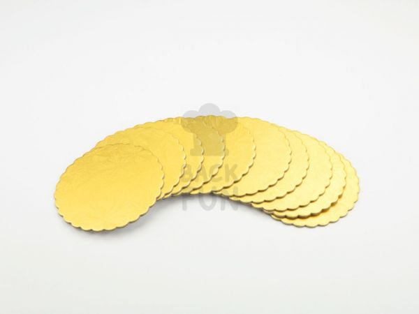 Cakeboard 10cm gold 10 Stück