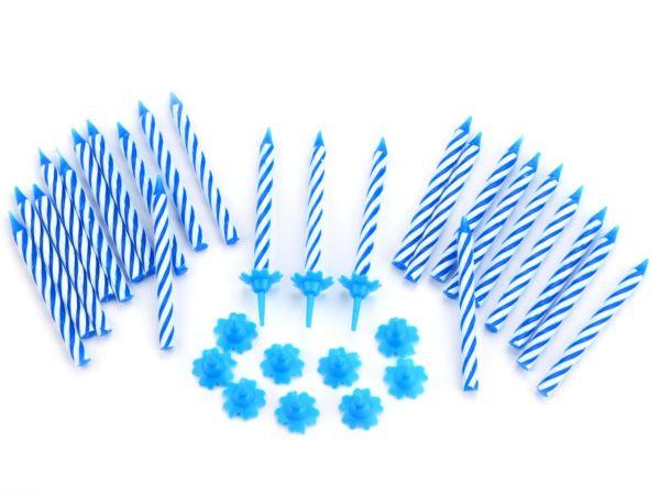 Kerzen blau 24er