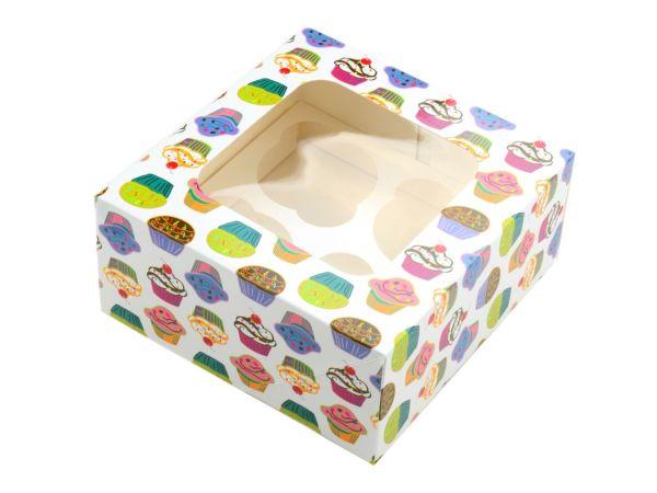 Cupcake Box Törtchen für 4 Stück 2er Set