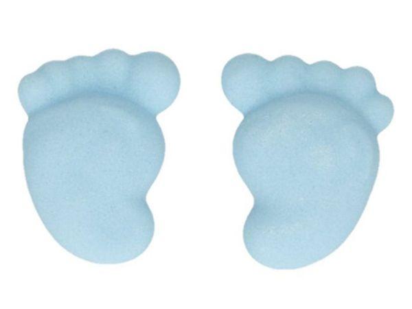 FunCakes Zuckerdekorationen Baby Füße Blau, 16er Set