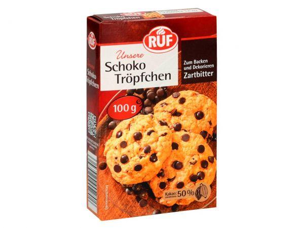 RUF Schoko Tröpfchen Zartbitter 100g