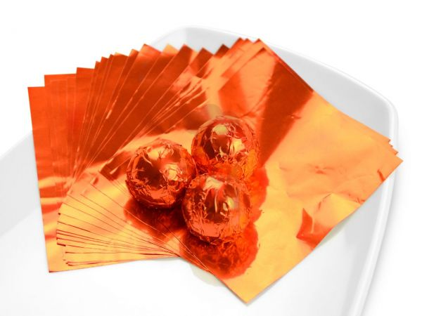 Wickelfolie orange 50 Blatt
