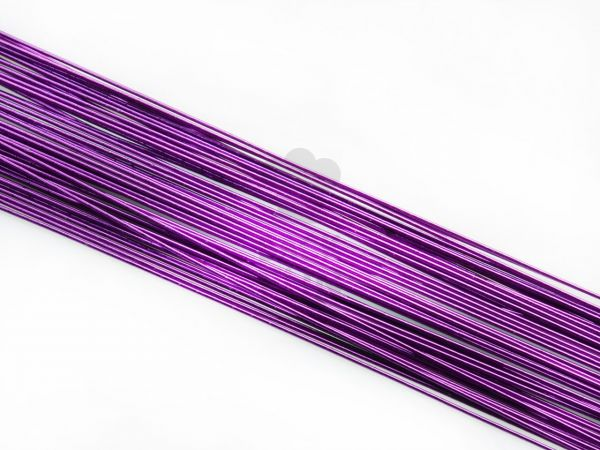 Blumendraht metallic violett 20G 50 Stück