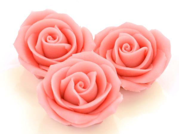 Marzipan-Rosen groß rosa 16 Stück