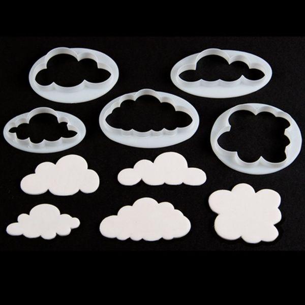 Ausstecherset Wolken 5er