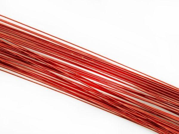 Blumendraht metallic rot 20G 50 Stück