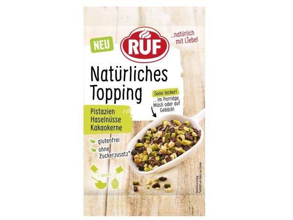 RUF Natürliches Topping - Pistazien, Kakaokerne und Haselnüsse 30g