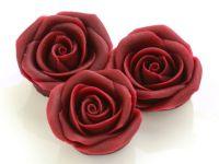 Marzipan-Rosen groß bordeaux 2 Stück
