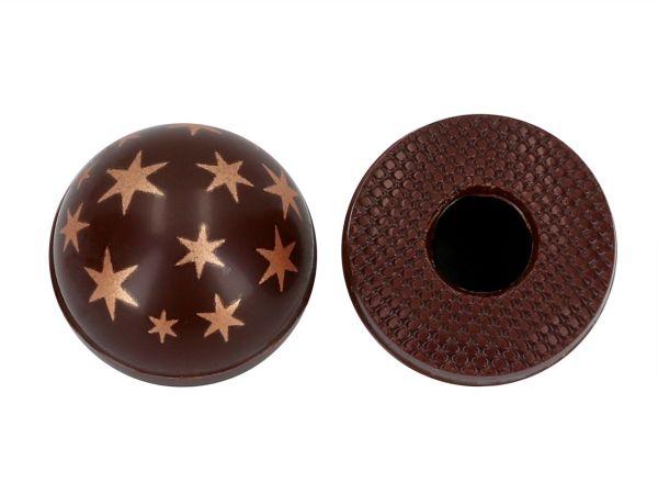 1 Folie Halbkugeln mit Sternen Zartbitter